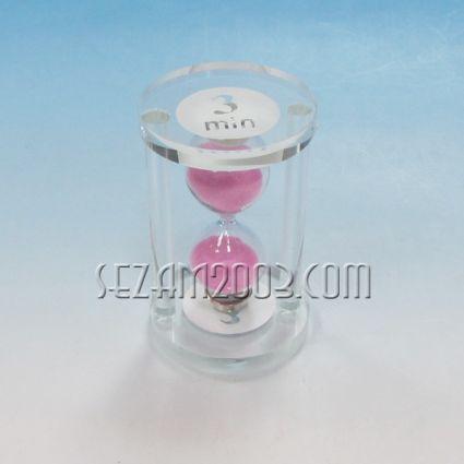Glass hourglass - 3 min.