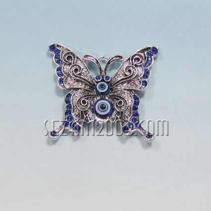 Пеперуда - метален магнит за хладилник с назар