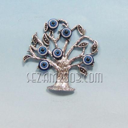 Tree of Life + Nazar - metal fridge magnet