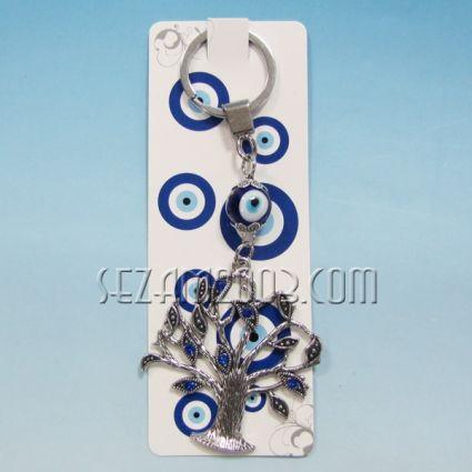 Ключодържател назар - с метална висулка - дърво на живота