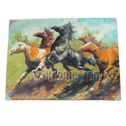 orses - oil painting hand