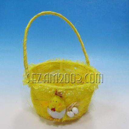 Кошничка с дръжка - Великденска декорация