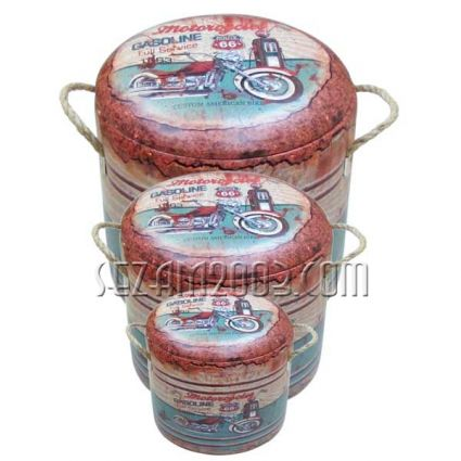 Табуретки / кутии от мдф и изкуствена кожа - винтидж декор
