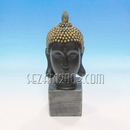 Buddha head figure