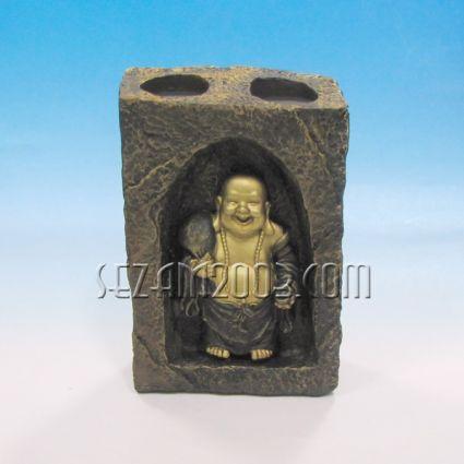 Буда свещник 2-ен настолен от резин