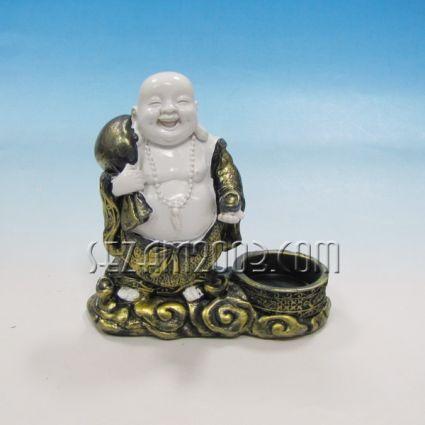 Буда свещник  настолен от резин