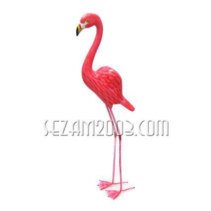 Фламинго розово от дърво с метални крака