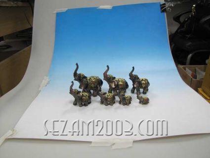 Слончета декорирани 7бр.к-т от резин