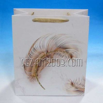 Gift paper bag decorated
