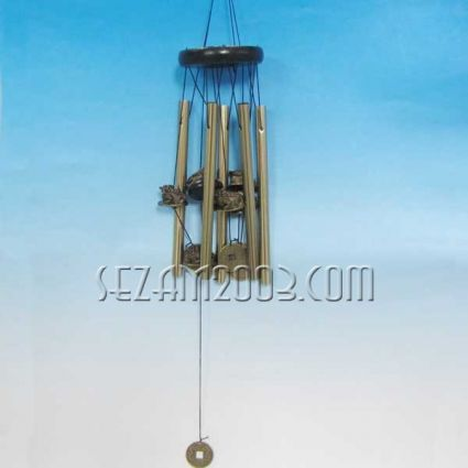 ЖАБА - вятърен звънец от метал фън шуй