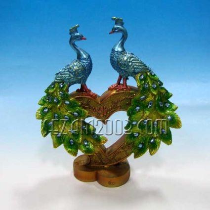 Peacock  - a figure of polyresin