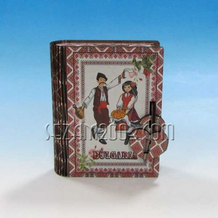 Money box / book with BG decor made of MDF and paper