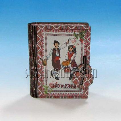 Касичка / книга с БГ  декор от мдф и хартия