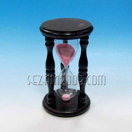 Пясъчен часовник - сувенир от дърво,стъкло и пясък