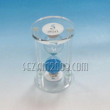 Glass hourglass 5 min.