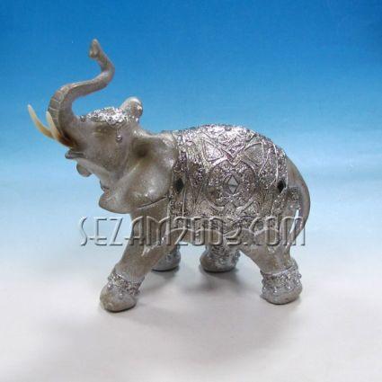 Слонче фигура от резин декорирана