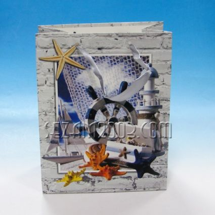 Luxury paper gift bags with marine decor