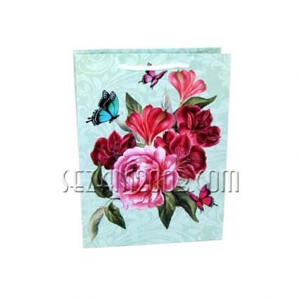 Glossy paper gift bag