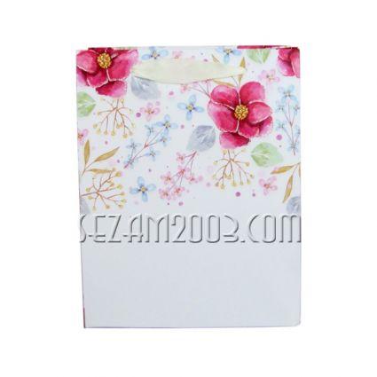 Подаръчна торбичка от лукс хартия - цветябичка