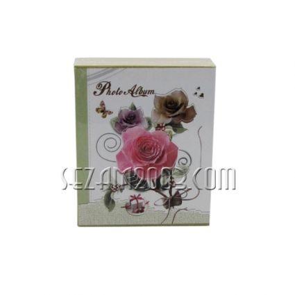 Албум от лукс картон за 40 снимки в джоб - декор ЦВЕТЯ