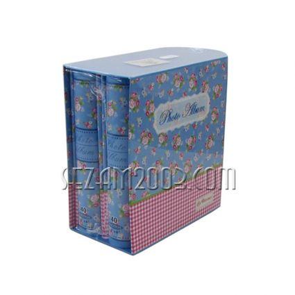 Албуми 2бр. от лукс картон за 80 снимки в джоб - винтидж  декор