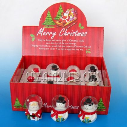 Преспапие Коледно - Снежко и Дядо Коледа