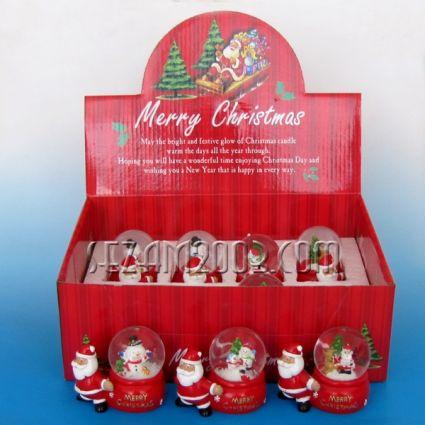 Преспапие Коледно - Дядо Коледа с торба