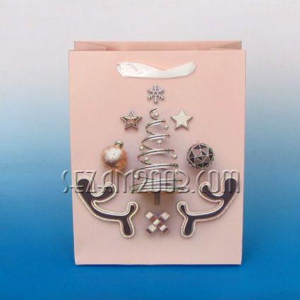 Подаръчна торбичка от лукс хартия - Коледен декор