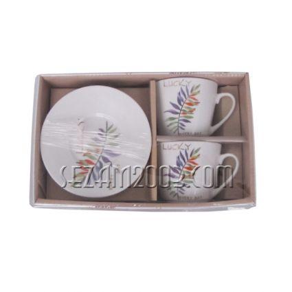 Сервиз за кафе 2чаши + 2чинии - в  подаръчна кутия