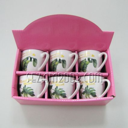 Coffee set 6 cups in a gift box