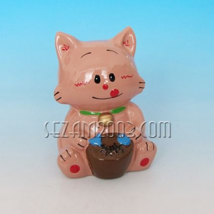 Котенце - керамична касичка