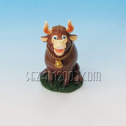 Бик / кравичка  със звънче - фигура от резин