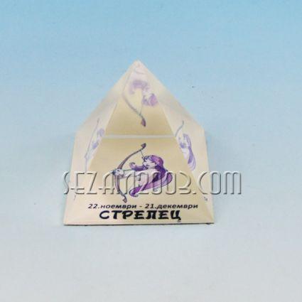 Glass pyramid with Zodiac