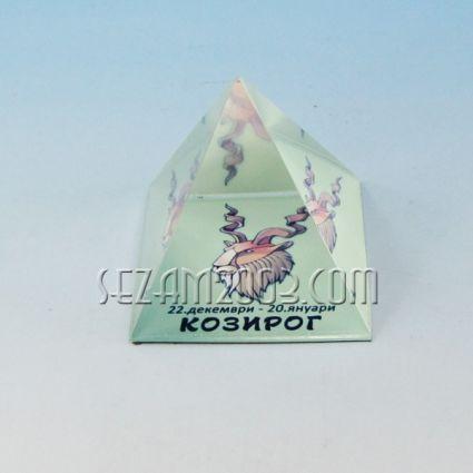 Glass pyramid with the zodiac