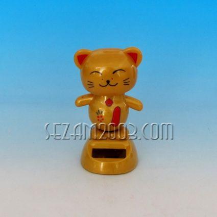Kitten - moving plastic figurine + solar