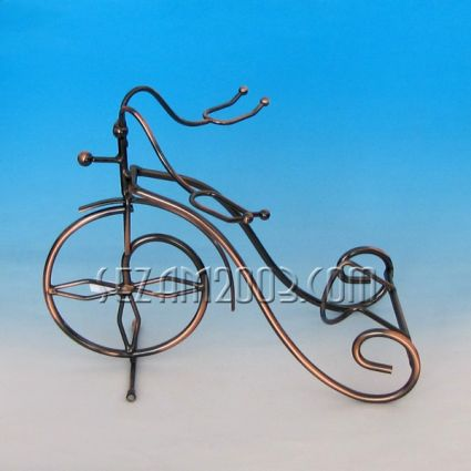 Metal wine bottle holder - bicycle