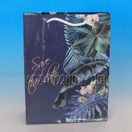 Glossy paper gift bag - decorated