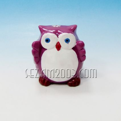 Owl ceramic money box