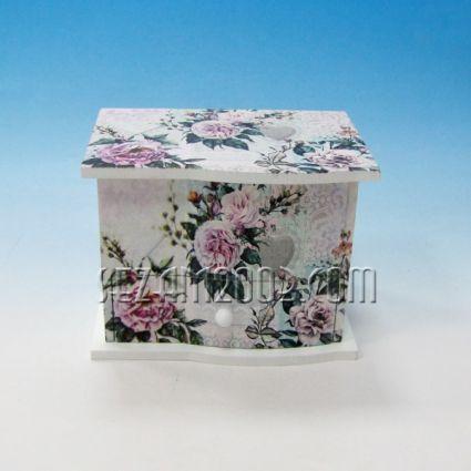 Кутия за бижута от дърво винтидж декор с музикален механизъм