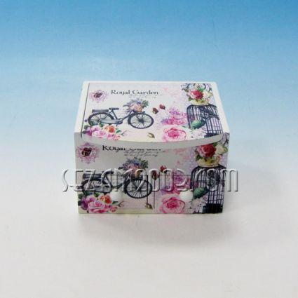 Кутия за бижута от дърво с чекмеджета и огледало -  винтидж декор