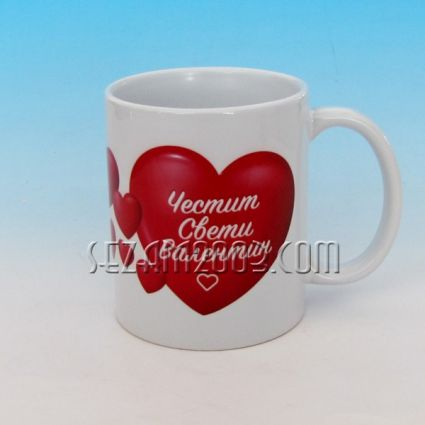 Valentine\\\\\\\'s cup decor - ceramic