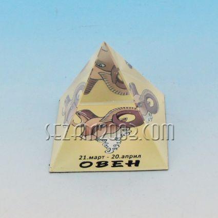 Стъклена пирамида със зодия - ОВЕН