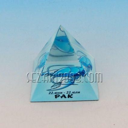 Стъклена пирамида със зодия - РАК