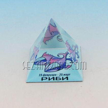 Стъклена пирамида със зодия - РИБИ