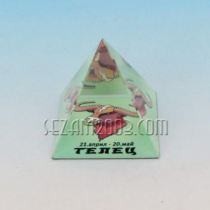 Стъклена пирамида със зодия - ТЕЛЕЦ