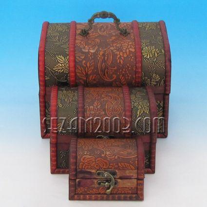 Кутии от дърво декорирани 3бр.к-т