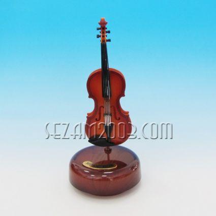 Violin - a rotating souvenir with a musical mechanism
