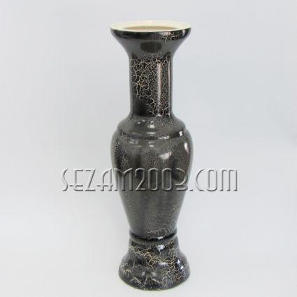 Ваза керамична  - Аладин черен, ръчно рисувана