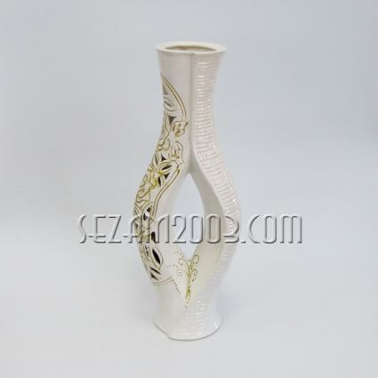 Ceramic vase - abstract white