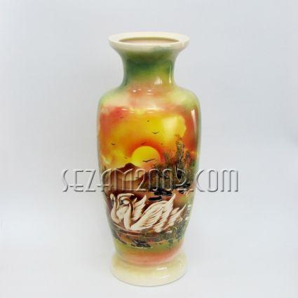 Ceramic vase - painting, hand painted